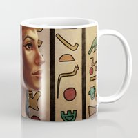 egyptian Mugs featuring Egyptian by Ayu Marques
