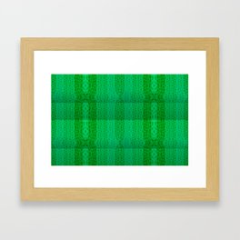 Greenish pattern of borders .. Framed Art Print