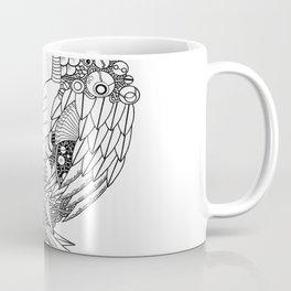 Peacock Doodle Coffee Mug