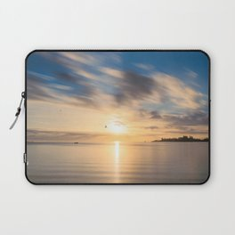 Birds flying at golden hour at Anse Vata Bay in New Caledonia Laptop Sleeve