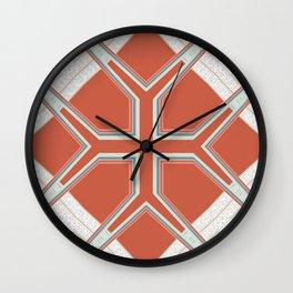 Coral Ornate Pattern Design Wall Clock