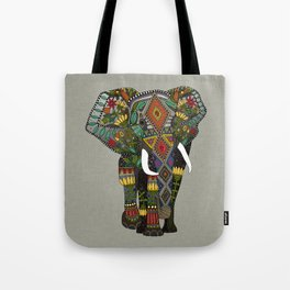 floral elephant stone Tote Bag