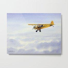 J-3 Piper Cub Aircraft Metal Print