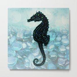 Jewel Seahorse Metal Print