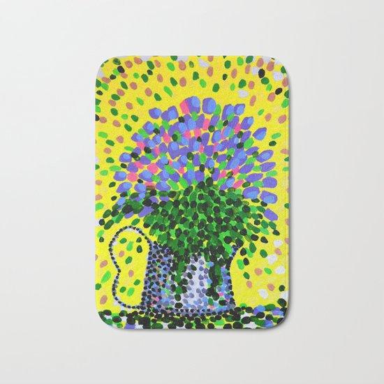 Explosive Flowers Bath Mat