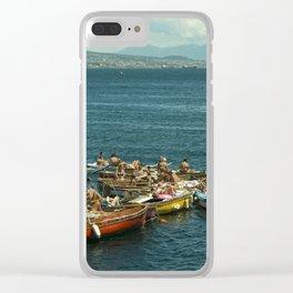 Neapolitan boat fest Clear iPhone Case