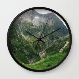 Mighty Mountains of Switzerland Wall Clock