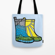 Rainy Day Boots Tote Bag