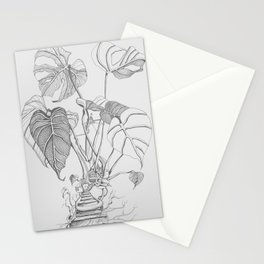 Monstera. Living Stationery Cards