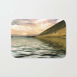 mountain lake 4 Bath Mat