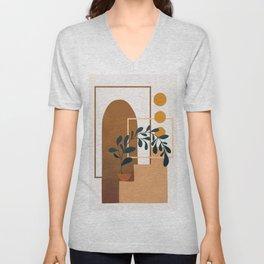 Modern Abstract Art 50 Unisex V-Neck