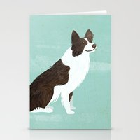 border collie Stationery Cards featuring Border Collie by 52 Dogs