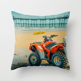 Vintage Baywatch Throw Pillow