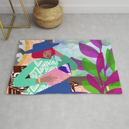 Poetry Reading Rug