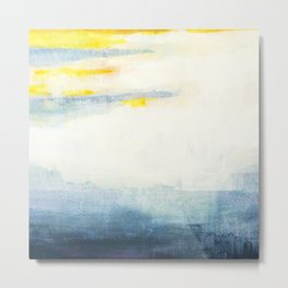Mists in blue and gold Metal Print