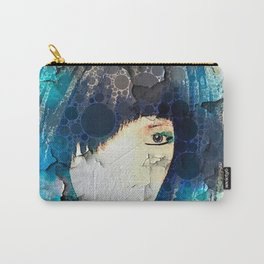 I'm with Wig Blue Carry-All Pouch