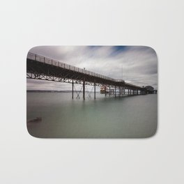 Mumbles pier and lifeboat station Bath Mat