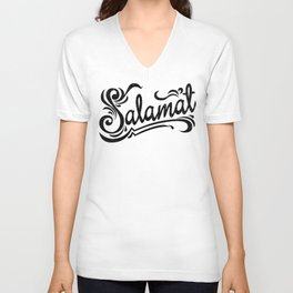 Salamat means Thank You! Unisex V-Neck