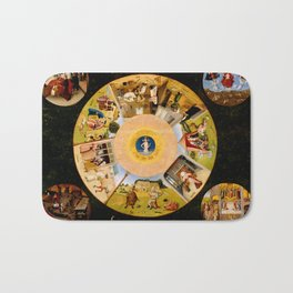 The Seven Deadly Sins and The Four Last Things Bath Mat