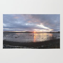 Panoramic Sunset on the Cove Rug
