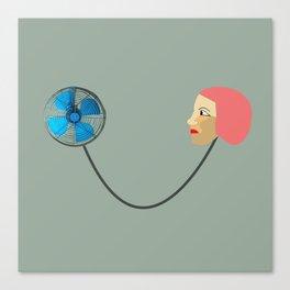 woman fan Canvas Print