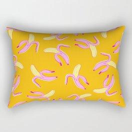Flying Bananas in Orange Rectangular Pillow