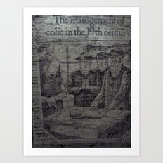 Colic In The 19th Art Print