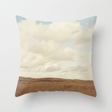 Clouds over the Field Throw Pillow