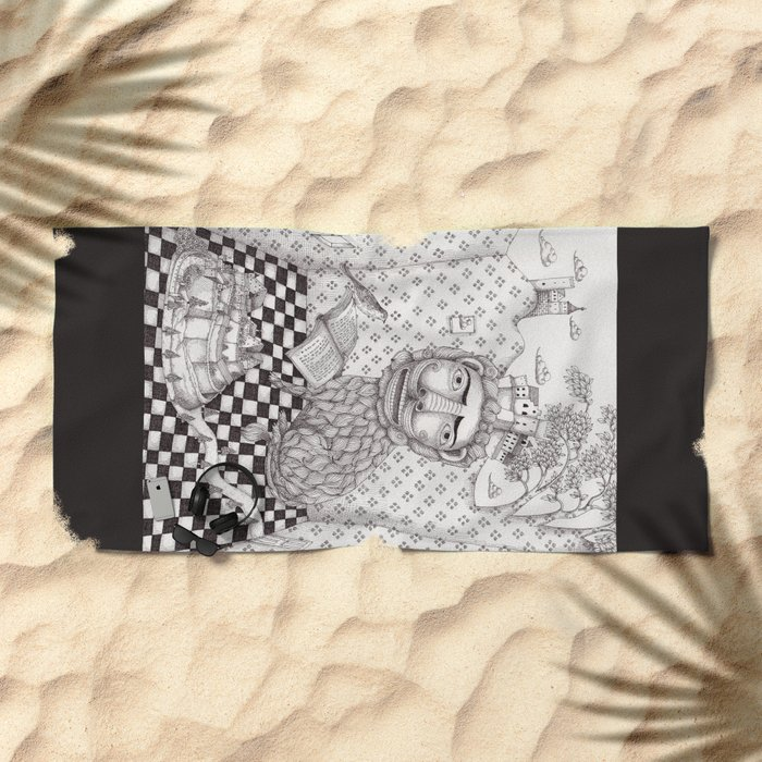 The Lion's Story Hour Beach Towel