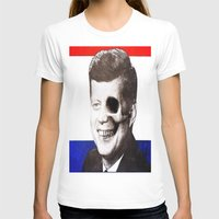 jfk T-shirts featuring JFK SKULL PORTRAIT by Joedunnz