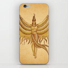 Isis, Goddess Egypt with wings of the legendary bird Phoenix iPhone Skin