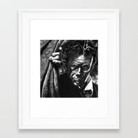 tom waits Framed Art Prints featuring Tom Waits by kenmeyerjr