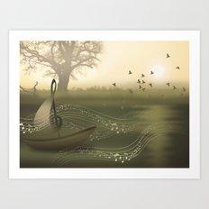 river of music Art Print