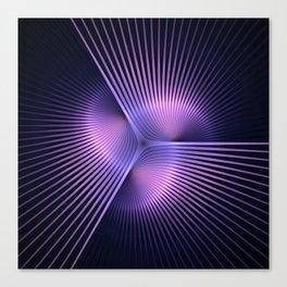 Purple Rays Canvas Print