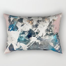 Breaker of Chains: a colorful abstract with white pink blue gray and gold Rectangular Pillow
