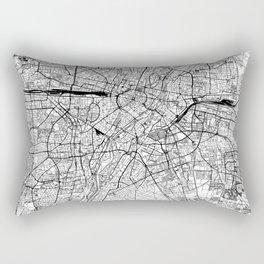 Munich White Map Rectangular Pillow