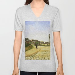 Upper Norwood Chrystal Palace London 1870 By Camille Pissarro | Reproduction | Impressionism Painter Unisex V-Neck