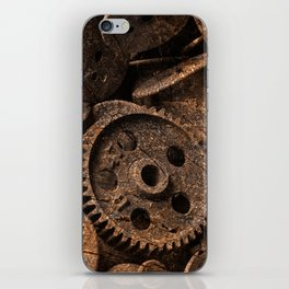 Cracked Wood Bobbins iPhone Skin