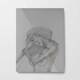 A woman in a pose Metal Print