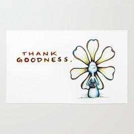 """""""Thank Goodness"""" Flowerkid Rug"""