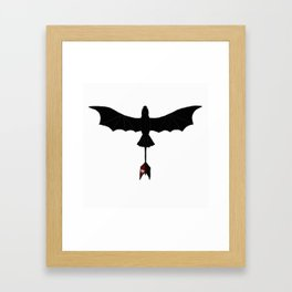 Black Toothless Framed Art Print