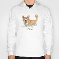 corgi Hoodies featuring CORGI by nachodraws