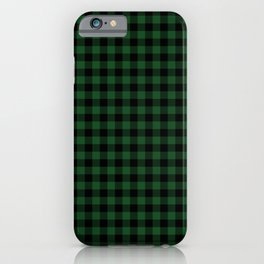 Original Forest Green and Black Rustic Cowboy Cabin Buffalo Check iPhone Case