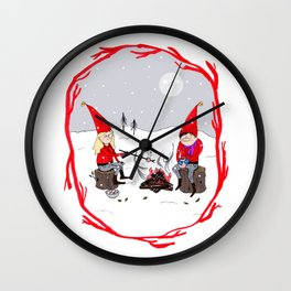 Snow and Stories Wall Clock