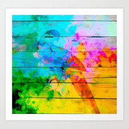 Shadow of a parrot on a hot day Art Print