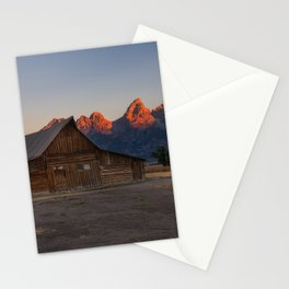 Moulton Barn - Sunrise in Grand Tetons Stationery Cards