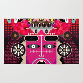 Abstract Graphic Art Rug