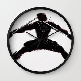 Black and Red Dead Pool Wall Clock