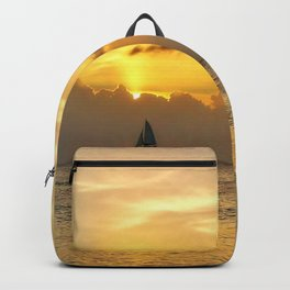 Sailing away to infinity. Backpack