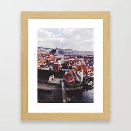 KRUMLOV OVERLOOK Framed Art Print